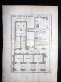 Vignola 1720 Architectural Plan of the Capitole Moderne, Rome, Italy 110